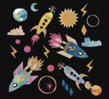 Cosmic space rocket Kids Tee