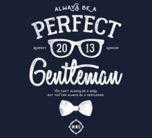Always Be A Gentlemen [White Mono] Kids Tee