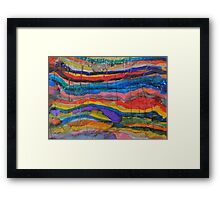 Abstract Inks Framed Print