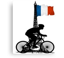 Eiffel Tower France Biking Canvas Print