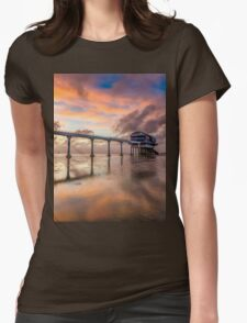 Stormy Lifeboat Station Sunset Womens Fitted T-Shirt