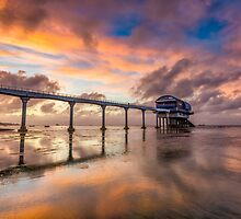 Stormy Lifeboat Station Sunset by manateevoyager