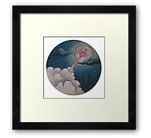 Space is sketchy Framed Print
