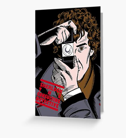 Sherlock The Consulting Detective Greeting Card