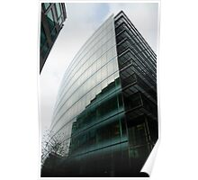 Glass building with reflections Poster