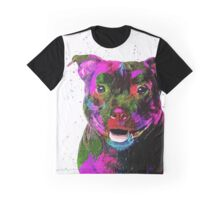 Staffordshire Bull Terrier Pop Art Portrait Graphic T-Shirt
