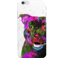Staffordshire Bull Terrier Pop Art Portrait iPhone Case/Skin