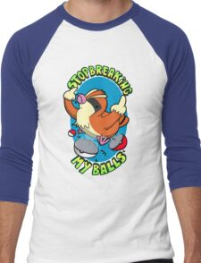 Stop breaking my balls! - Rude edition Men's Baseball ¾ T-Shirt
