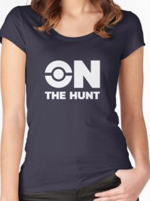 Pokemon Go - On The Hunt (White) Women's Fitted Scoop T-Shirt