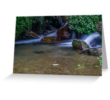 water stream Greeting Card