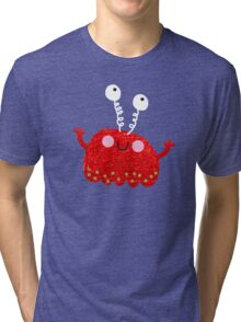 Red jelly monster chick Tri-blend T-Shirt