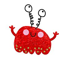 Red jelly monster chick Photographic Print