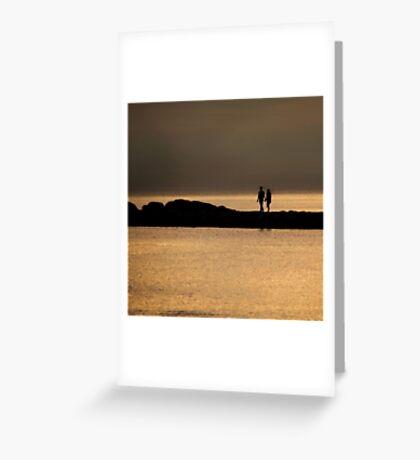 Sunset love between river & sea Greeting Card