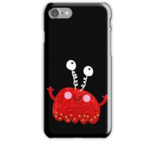 Red jelly monster chick iPhone Case/Skin