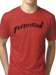 flexicution - Black Tri-blend T-Shirt