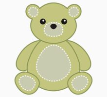 Baby Animal Sticker Lime Green Teddy Bear Nursery by StickerStore