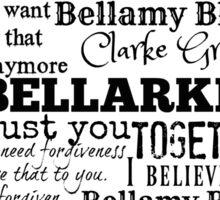 Bellarke words Sticker
