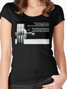 All That Anger, Fear, and Negative Energy Women's Fitted Scoop T-Shirt