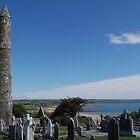 St. Declan's Monastery overlooking  Ardmore bay by Declan Carr