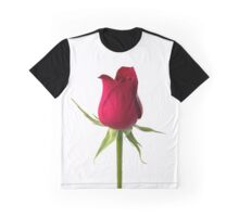 Single red rose, isolated on white background Graphic T-Shirt