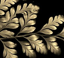 Golden Fern Leaf by Jessica Jenney