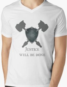 Overwatch - Justice will be Done Mens V-Neck T-Shirt