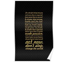The rules for... Inspirational Quote Poster
