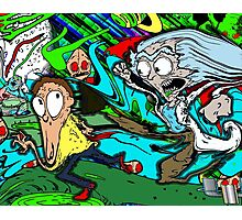 Runny Rick and Melty Morty Photographic Print