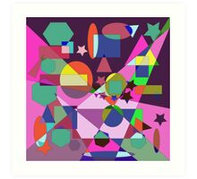 SW GEOMETRIC PATTERN Art Print