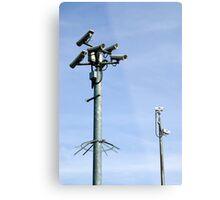 CCTV Security cameras Metal Print