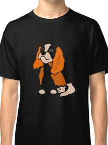 Cool Artistic Cavalier King Charles Spaniel Dog Art Classic T-Shirt