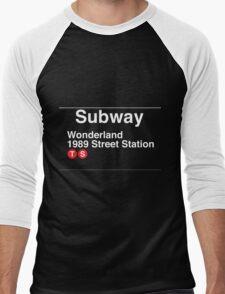 Taylor Swift Found Wonderland Subway Pun Men's Baseball ¾ T-Shirt