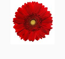 Red gerbera head, closeup shot, isolated on a white background Unisex T-Shirt
