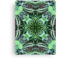 Garten, Mandala, Natur, grün, sehr schön, Blumen, Blüte, Sommer, Frühling Canvas Print