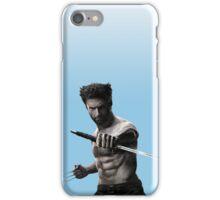 Pastel Blue Wolverine  iPhone Case/Skin