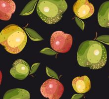 Apples on a black background Sticker