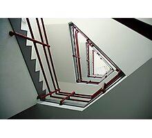 Triangular staircase Photographic Print