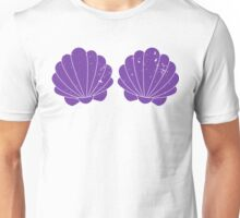 Purple Mermaid Shells Unisex T-Shirt