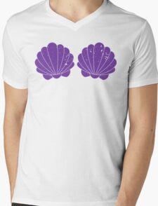Purple Mermaid Shells Mens V-Neck T-Shirt