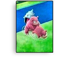 Pokemon Go Bang SlowBro Slowpoke Meme Canvas Print