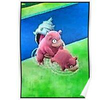 Pokemon Go Bang SlowBro Slowpoke Meme Poster