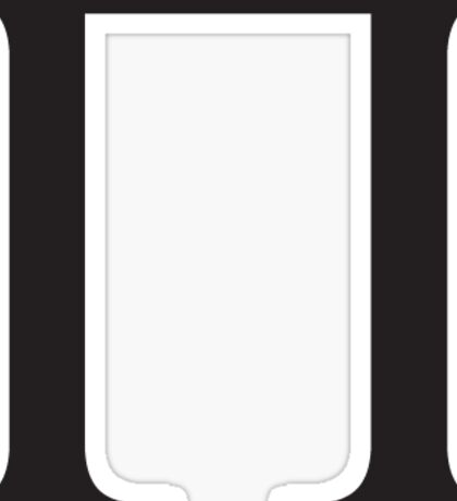 Pi Greek Letter - Black Sticker