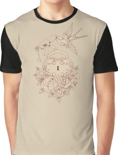 Old school True Love Lock and Key line work tattoo Graphic T-Shirt