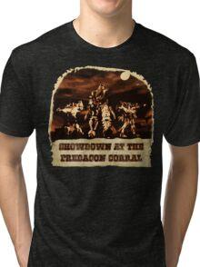 Showdown at the PK Corral Tri-blend T-Shirt