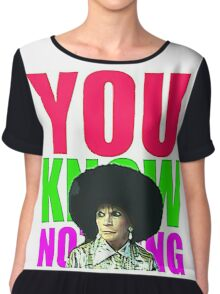 YOU KNOW NOTHING Chiffon Top