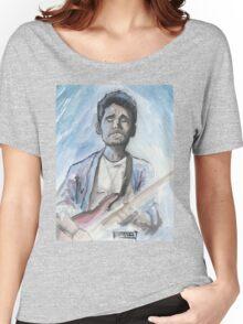 John Mayer in watercolor.  Women's Relaxed Fit T-Shirt