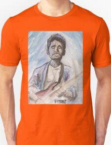 John Mayer in watercolor.  Unisex T-Shirt