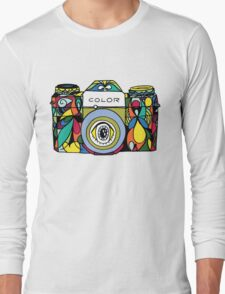 Colorful Camera  Long Sleeve T-Shirt