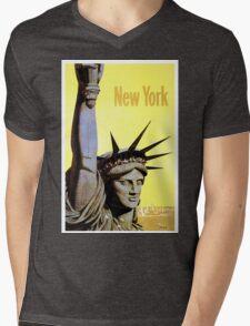 New York - Vintage Travel Poster Mens V-Neck T-Shirt