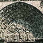 Central door tympanum Cathedral Sens France 198405050086 by Fred Mitchell